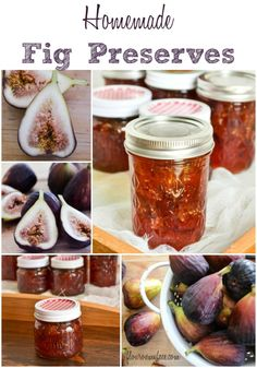 This batch of Homemade Fig Preserves is made with fresh brown turkey figs with are in season right now. Buy the fresh figs now to make a batch and enjoy fig preserves all winter long. Fig Recipes, Jelly Recipes, Canning Recipes, Canning Tips, Crepe Recipes, Waffle Recipes, Burger Recipes, Fig Preserves Recipe, Fig Jam Recipe With Pectin