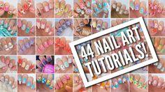 44 Nail Art Tutorials! | Nail Art Design Compilation