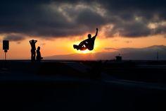 after work Skateboarding.