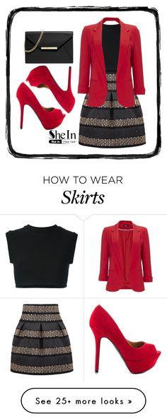 """Black High Waist Skirt SheIn"" by snjezanamilovanovic233 on Polyvore featuring adidas Originals, Wallis, Qupid and MICHAEL Michael Kors"