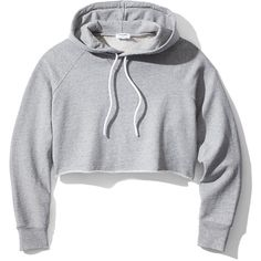 Frame Denim Cropped Hoodie (9.595 RUB) ❤ liked on Polyvore featuring tops, hoodies, shirts, crop top, jackets, grey, hooded sweatshirt, sweatshirt hoodies, gray hooded sweatshirt and grey hooded sweatshirt