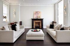 Una casa contemporanea a Londra, soffitto con cornici