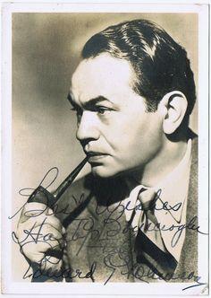 Edward G. Robinson Autograph on Photo.