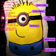 Despicable Me Cake. i should make this for my 7 yr old. he would love it.