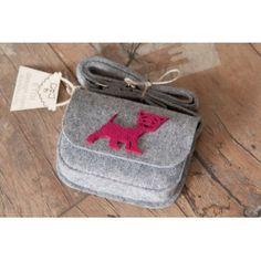 Etoi Design - szara torebka z kotkiem
