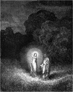 Beatrice and Virgil - Gustave Doré - Illustrations for Dante's Divine Comedy