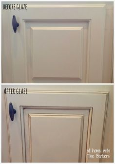 Best DIY Projects: Glazed Kitchen Cabinets-Before-After detail