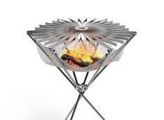 meet grillo by formaxiom, the portable barbecue that folds like an umbrella