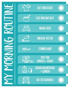 Weekday mornings are SO much easier with our handy printable morning routine checklist for kids.