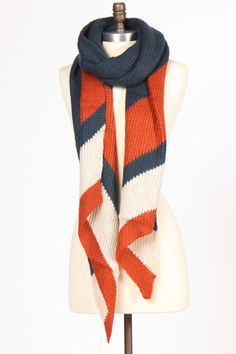 Vintage Love Scarf in Navy - wouldn't this be great @ a Fall Beaver Game!?!?