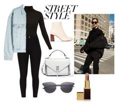 """""""Street style"""" by simplyjustlexi ❤ liked on Polyvore featuring Diane Von Furstenberg, Yeezy by Kanye West, Chloé, Rebecca Minkoff, LMNT, Tom Ford, contestentry and nyfwstreetstyle"""