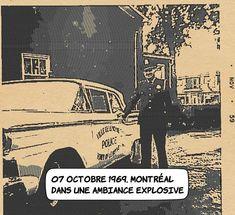 07 octobre 1969 : Montréal dans une ambiance explosive. .. La tension est palpable depuis deux ans déjà dans la ville Reine avec 109 manifestations d'envergure et plusieurs attentats à la bombe. Ce 7 octobre les policiers descendent dans la rue à Montréal - lassés de devoir maintenir l'ordre dans un tel climat de révolte qui existe durant cette période - malgré l'abolition de leur droit de grève en 1944. Ils protestent notamment contre l'écart entre leurs salaires et ceux des policiers de… Memes, Movie Posters, Two Year Olds, Police Officer, October, Queen, Film Poster, Popcorn Posters, Film Posters