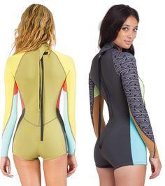 Shop Wetsuit Wearhouse for these awesome Billabong Women's L/S Springsuits! Womens Wetsuit, Billabong Women, Swimming Costume, Beachwear, Swimwear, Halter Bikini, Lingerie, Monokini, One Piece Swimsuit