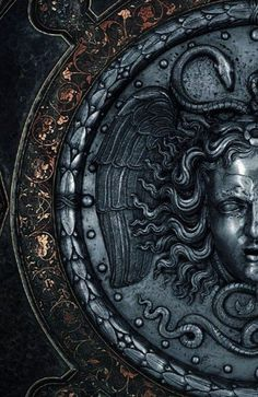 Century Italian Armorers Ceremonial Shield with the Head of Medusa (detail) Ancient Rome, Ancient Greece, Ancient Art, Sculpture Art, Sculptures, Arte Obscura, Art Antique, Greek Art, Greek Gods