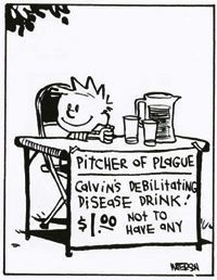 Calvin and Hobbes, PITCHER OF PLAGUE, $1 not to have any