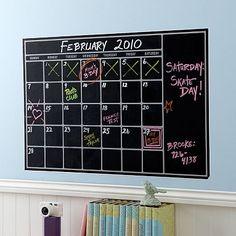 WANT WANT WANT!!! I love the Chalk Calendar Wall Decal on pbteen.com