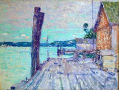 """Intracoastal,"" William Chadwick, ca. 1920, oil on board, 14 x 18"", private collection."