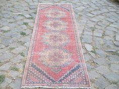Nursery Rug Rug Runner Vintage Turkish Oushak Turkish Runner  Rug  Vintage Rug 106 x 30 inches