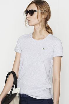 Lacoste Short Sleeve Scoopneck T-shirt : Tops & Tees