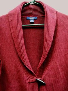 Chaps Deep Burgundy 100% Soft Cotton Sweater Size S Ships Free in the USA