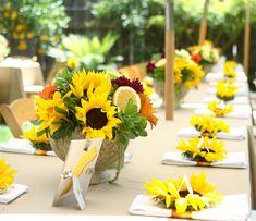 50 arrangements floraux romantiques en fleur de tournesol