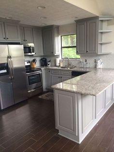 Kitchen Ikea, New Kitchen Cabinets, Kitchen Countertops, Kitchen Decor, Soapstone Kitchen, Kitchen Cupboard, Kitchen Flooring, Rustic Kitchen, Kitchen Sinks