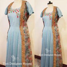 Light Steel blue dress with multicolor threadwork paired with a floral long jacket by YUTI! For Price and Other details reach us at 044-42179088 or Whatsapp: 7010905260 Address: 21, Valmiki street, Thiruvanmyur, Chennai.  #yutiforbrides #YUTIDesignerHouse #yuti #yutiforbridesmaids #dressbyyuti #anarkalibuyuti #anarkali #lightsteelblue #anarkali #greenandblueandgold #embroideredanarkali #floorlengthanarkali# #chennaidesigner #embroidery #sparkledwithgold #zariwork #indianwear #handembroidery