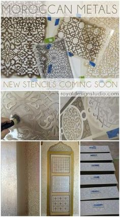 Amazing Moroccan stencils in new patterns from Royal Design Studio stencils by johnnie
