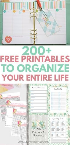 All of these planner organization printables are so pretty and useful for my organization binder. Great ideas and motivation to stay on track and organized. The daily and weekly spread in the first one was the best in my opinion. Planer Organisation, Binder Organization, Organisation Ideas Planners, Printable Organization, Storage Organizers, Household Organization, Organizing Life, To Do Planner, Student Planner