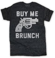 Buy Me Brunch Mens Tee Black