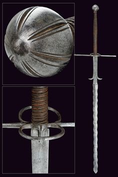 Two-handed Sword Dated: 16th Century Place of Origin: Germany Medium: steel, leather, iron wire binding Measurements: length 148cm