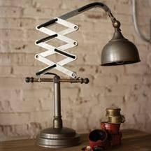 "Industrial Vertical Scissor Table Lamp gives This Lamp adds a vintage atmosphere along with the convenience in your space. Product Dimensions: 18""t - 32""t"