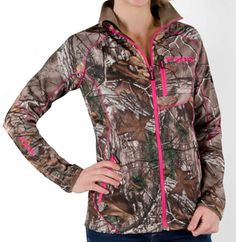 FXR Women's ELEVATION FULL ZIP FLEECE - CAMO (2015). $94.99. Available in sizes 2-18! •100% polyester bonded fleece •260g Thermal fleece •Interior fleece provides exceptional warmth •Bonded fleece wicks moisture •Dries quickly •Contrast flat-lock seaming for stream-lined comfort •Embroidered logos •Zippered chest and hand pockets http://www.upnorthsports.com/snowmobile/snowmobile-clothing/mid-layer/fxr-womens-elevation-full-zip-fleece-camo-2015.html