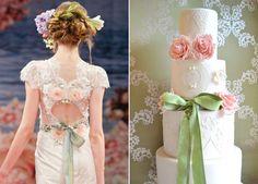 "Like dress, like cake! Claire Pettibone ""Beauty"" gown inspired cake!"