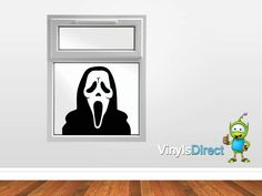 Scream Mask Halloween Decal Sticker Spooky! SKU0268 | VinylsDirect - Housewares on ArtFire