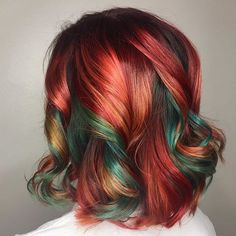 Vivid Hair Color, Hair Dye Colors, Multicolored Hair, Colorful Hair, Hair Color Caramel, Hair Inspiration, Hair Inspo, Chic Hairstyles, Hair Creations
