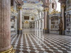 Visit the world largest monastery library in the Admont abbey in Styria/Austria. Guides for groups as well as for individuals possible, also without guide you can visit the library! Weston Library, Peabody Library, Old Libraries, Bookstores, Lovers Day, Book Lovers, Visit Austria, Beyond The Sea, Dream Library