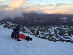 Our son Gary snowboarding in Glencoe, Scotland