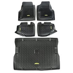 Outland Black Jeep TJ Front Rear and Cargo Floor Liners