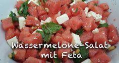 Mein Sommer-Sonne-Lieblingssalat Rezept für ein würzig-süßen Sommersalat: Wassermelone mit Feta auf www.uwebwerner.de  #food #salat #recipe #rezept #salad #watermelon #wasmirschmeckt #uwebwerner #sommer #gesundheit