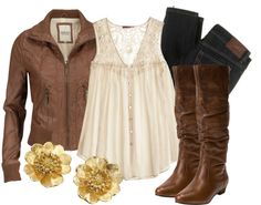 """""""Leather & Lace"""" by qtpiekelso on Polyvore"""