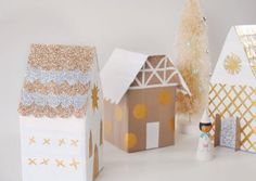 Duct Tape DIY Christmas Village   Try this fun duct tape Christmas craft with the kids this December!