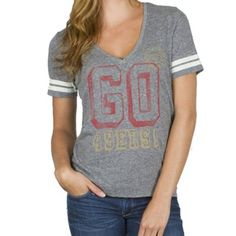 Junk Food San Francisco 49ers Ladies Tailgate V-Neck Tri-Blend T-Shirt c18e56c68