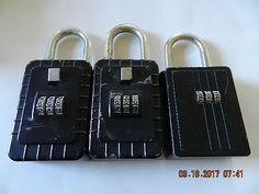 shurlok 4 dial letter combination real estate key lock box euc