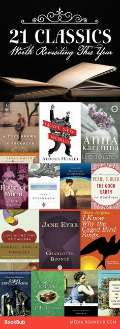 21 classic books to read. These great novels are perfect additions to your 2017 reading list, and great book club ideas, too!