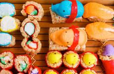 40 Bizarre Sushi Delicacies -  From Fishy Time Tellers to Zombie Food Treats #zombie #food #treats #food #sushi