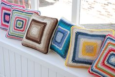 Simple, but lovely concentric square pillow design.