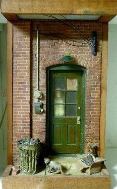 Michael Garmin Sculpture of Doorway with Gentlemen by AVintageFix, $700.00