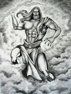 Zeus-his symbols are the thunderbolts and lightning oak tree . Zeus Tattoo, Poseidon Tattoo, Greek Mythology Tattoos, Greek And Roman Mythology, Greek Gods And Goddesses, God Tattoos, Badass Tattoos, Archangel Michael Tattoo, Roman Gods