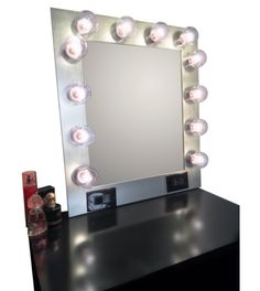 Bathroom Vanity Mirror Antique Vanity with Mirror, Vanity Desk with Mirror Mirrored Vanity Desk, Makeup Vanity Mirror With Lights, Hollywood Vanity Mirror, Pink Vanity, Mirror With Led Lights, Diy Makeup Vanity, Lighted Vanity Mirror, Diy Mirror, Home Design